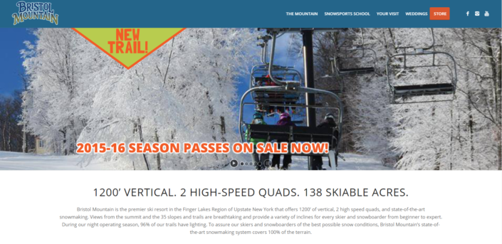 Bristol Mountain Website