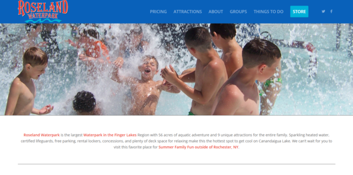 Roseland Waterpark Website